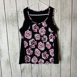 Torrid Athletic Rose Printed Tank.